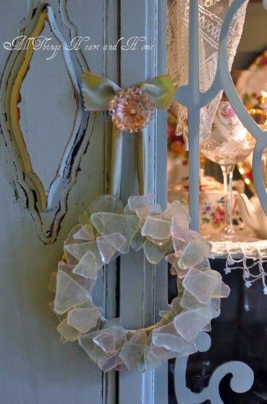 Sea Glass Wreath~ #seaglass