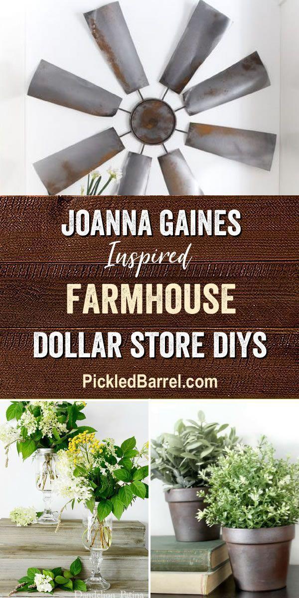 Joanna Gaines Inspired Farmhouse Dollar Store DIYs