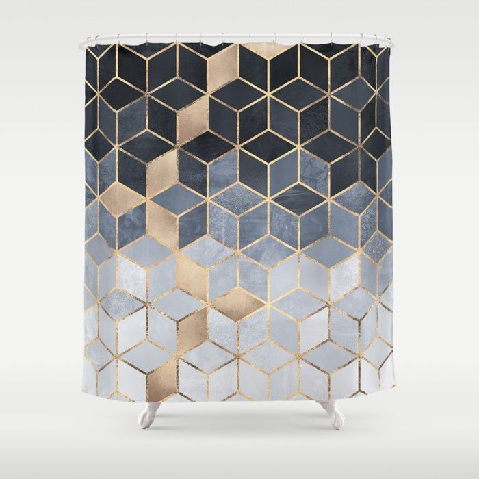 Available For Purchase Soft Blue Gradient Pattern Black Squares Cubes Optical Illusion Tan Beige Art Painting Photograph Tiles Beautiful Grey White