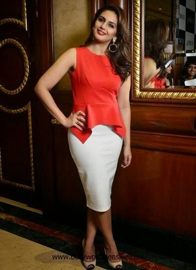 Huma Qureshi in red top at Femina Magazine launch My Body My Rules