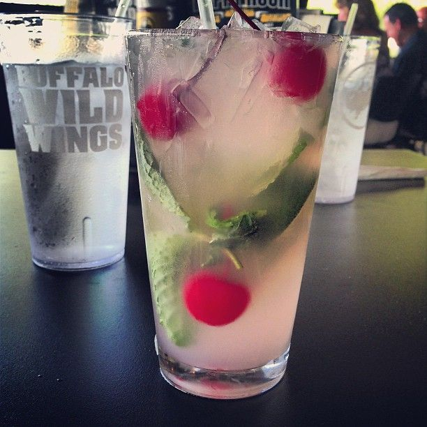 i know this drink just by looking at it. Black Cherry Mojito! they are really good