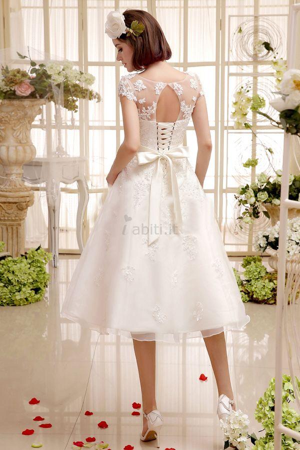 Abiti da Sposa A-Line moda Romantico Particolare Naturale