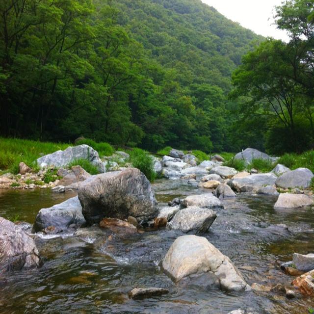 남한산성 계곡 한자락 in Korea