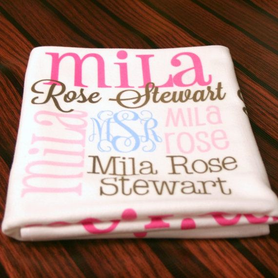 17 best ideas about monogrammed baby blankets on pinterest