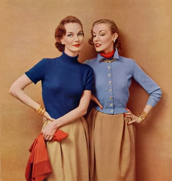 19521952 Columbia, Vintage Fashion, Age 1950S, 50S Classic, 1952 Fashion, Columbia Knits, Beautiful Fashion, 1950S Fashion, Vintage Style