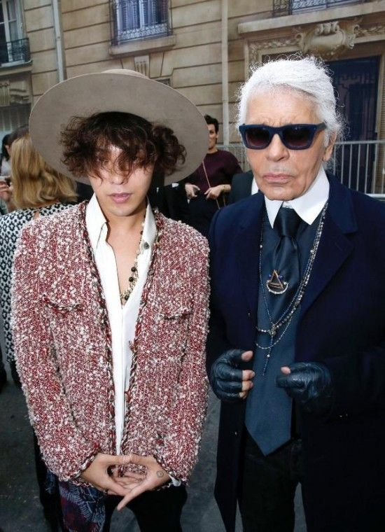 G-Dragon at 'Chanel 2015 S/S Show in Paris' with Karl Legerfeld | Like I needed another reason to want to be at Chanel's show