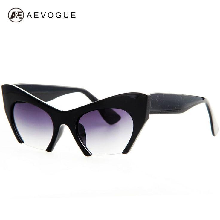 $5.78 (Buy here: https://alitems.com/g/1e8d114494ebda23ff8b16525dc3e8/?i=5&ulp=https%3A%2F%2Fwww.aliexpress.com%2Fitem%2FAEVOGUE-with-case-Retro-brand-Cat-Eye-sunglasses-women-Good-quality-Eyewear-classic-sun-glasses-Half%2F32224543666.html ) AEVOGUE Free Shipping Retro Brand Cat Eye Sunglasses Women Good Quality Eyewear classic sun glasses Half frame UV400 AE0184 for just $5.78