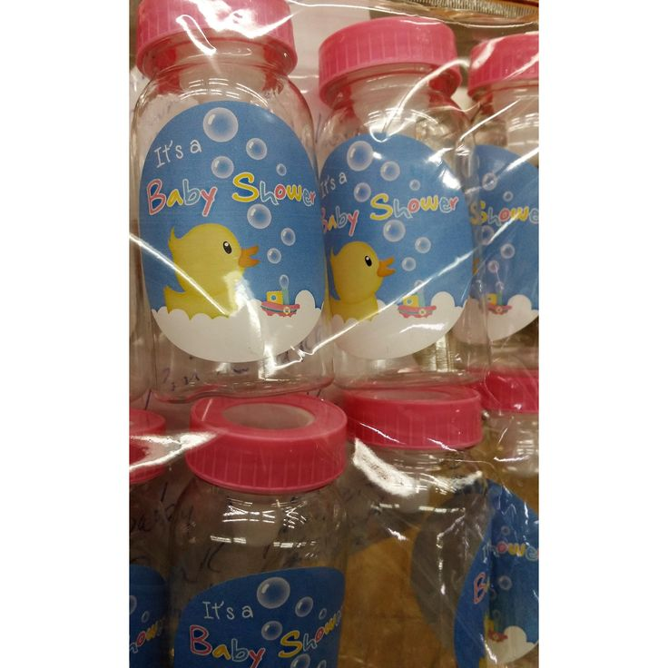 Pink or Blue Baby Bottle Favors, Ducky Baby Shower, Baby Bottle Favors, Fillable Baby Bottle, 24 Baby Shower Favors, Pink Baby Shower Decorations, Ducky Baby Shower favors, Yellow Ducky Baby Shower