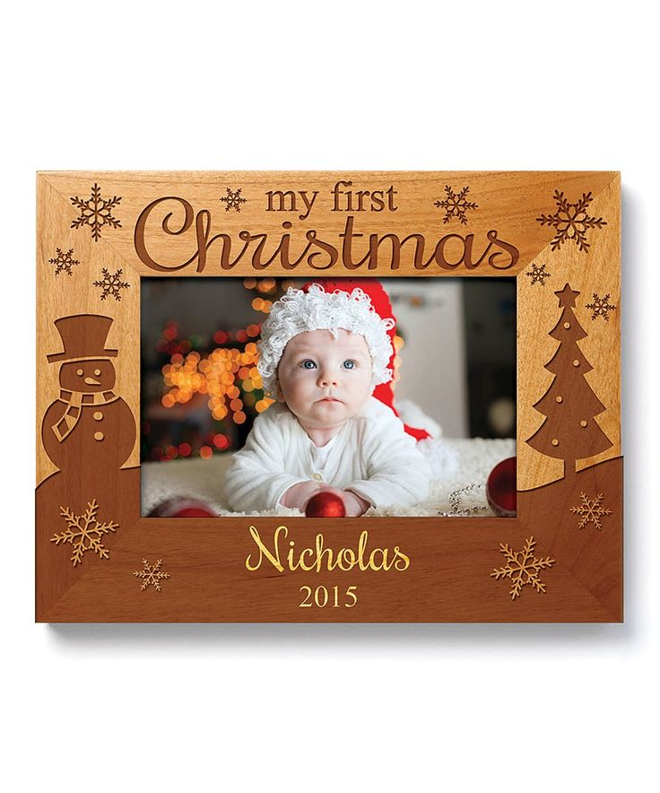 Take a look at this 'My First Christmas' Personalized Photo Frame today!
