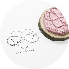 Cute heart and infinity stamp for couples