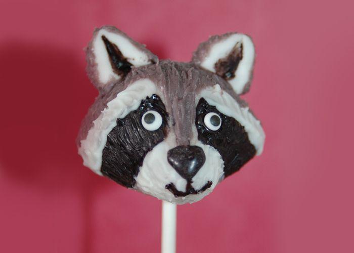 Raccoon Cake Pops