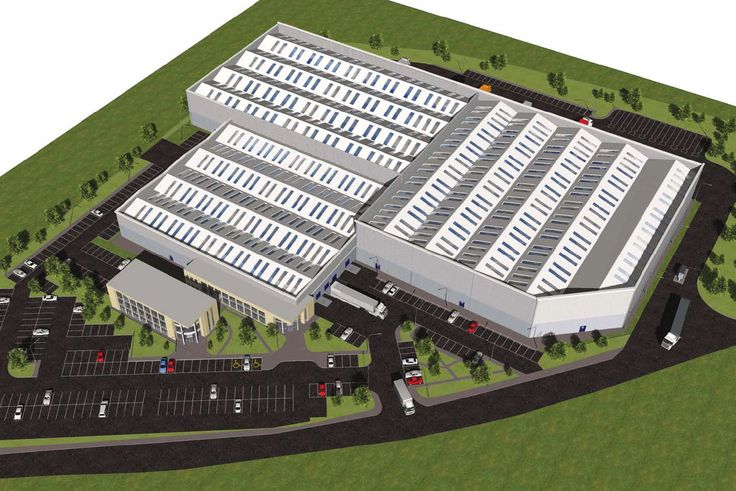 Boyne Valley Foods plant at Dorogheda 3D illustration prepaid for planning purposes.