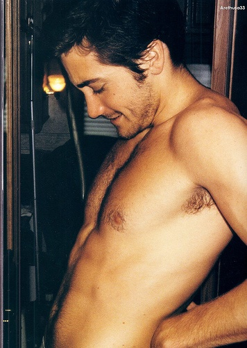 You're so fine Jake Gyllenhall. I live for barely clothed men.. Ha