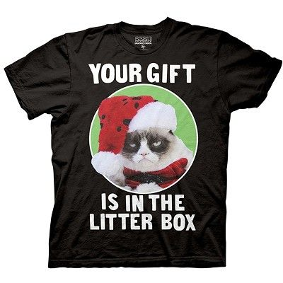 Grumpy Cat 'Your Gift is in the Litter Box' Shirt #grumpycatshirt #grumpycat #grumpycatchristmas