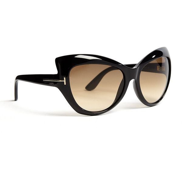 aaa127c9d4 Tom Ford Black Bardot Cat Eye Acetate Sunglasses ( 356) found on Polyvore  http   artisandurgence.com plombier plombier-paris