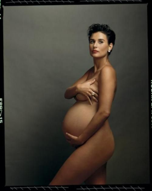 Demi Moore 1991 by Annie Leibovitz. Thank you Demi and Annie for opening up this world of celebrating pregnancy!