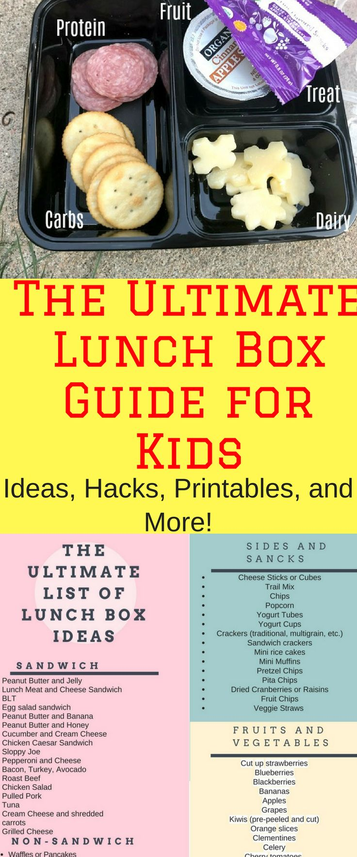 Such a great list of lunch ideas for toddlers and school-aged kids!