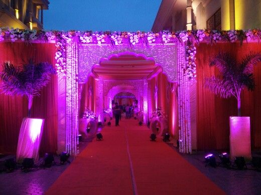 Rajwada theme passage #indianweddings #weddingdecor #themedecor   Celebells Events Pick a date. Leave the rest on us. www.celebells.com