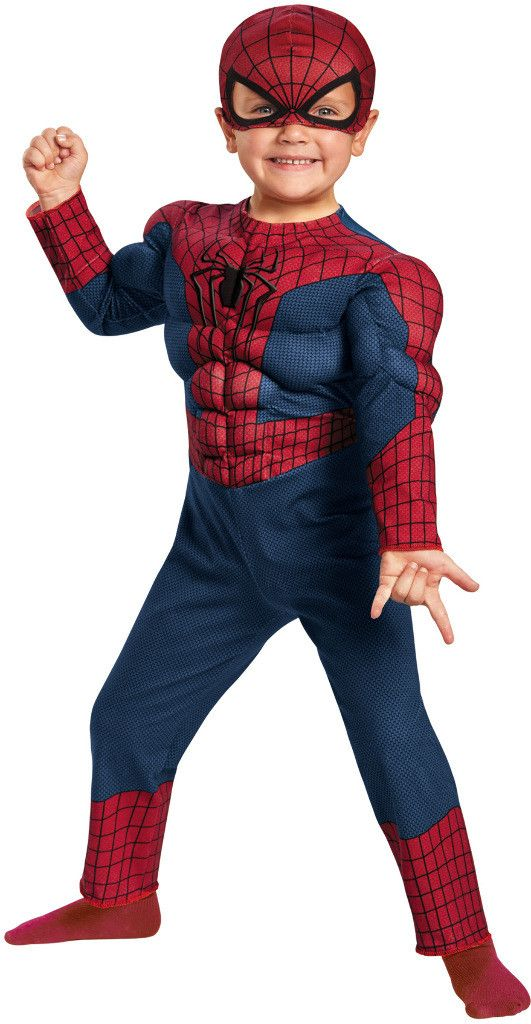 toddler boy's costume: spiderman 2 muscle