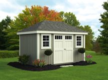 new england deluxe painted provincial storage sheds - Garden Sheds New Hampshire