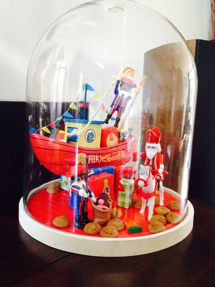 Sinterklaas thema stolp. Dit vind ik dan weer een superleuk idee voor thuis!