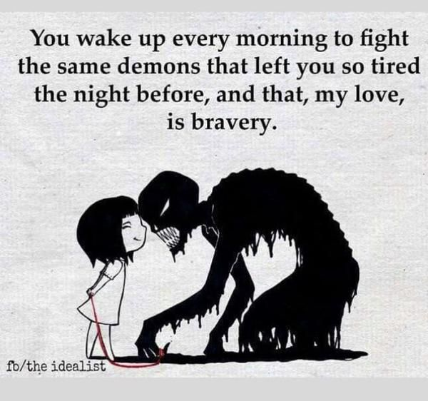 True bravery for the person in recovery.