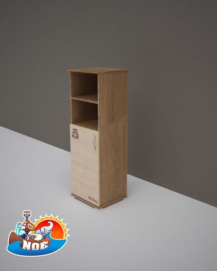 Todi Noé keskeny nyitott polcos + 1 ajtós szekrény