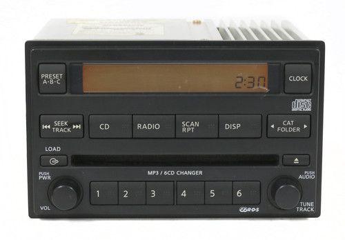 2006-2007 Nissan Pathfinder AM FM Radio 6 Disc CD Player Part Number 28185ZP40A