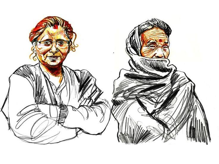 Inde, Kurseong, district de Darjeeling, cueilleuses de thé, 2010. Les montagnes du Gorkhaland entrent une nouvelle fois dans une période de bhand : barrage des routes et grève générale. Si l'agitation des années 80 pour un Etat indépendant avait abouti à la création d'un Darjeeling Gorkha Hill Council, celui-ci ne répond plus aux attentes des populations d'origine népalaises, taxées outrancièrement par les capitales des plaines et en quête d'identité...