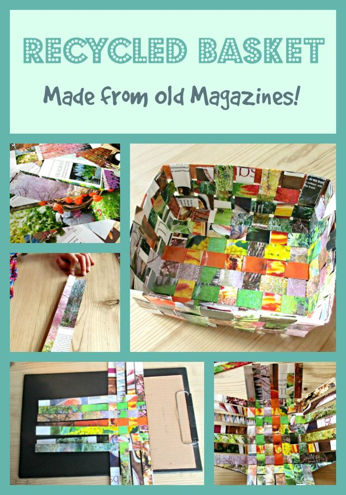 Recycled Magazine Basket - a fabulous up-cycling craft that all the family will love. Easy step by step tutorial.