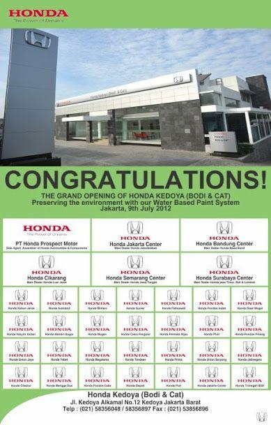 Iklan cetak untuk HONDA IKJ - Jasa desain grafis online Hakameru.com