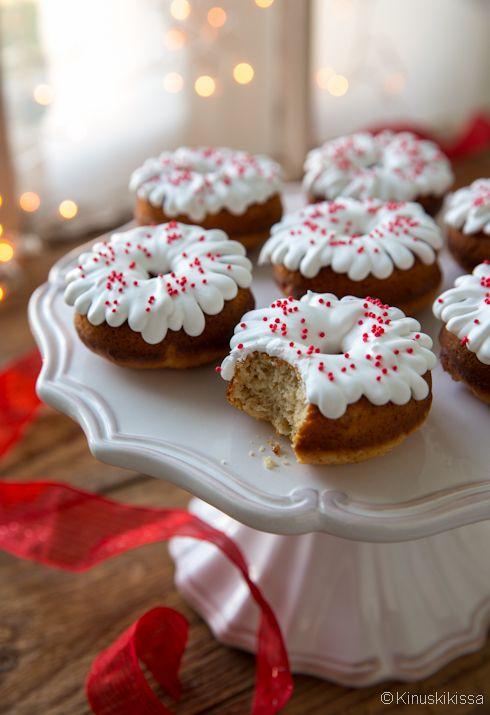 Jouludonitsit #leivonta #reseptit #joulu #donitsi