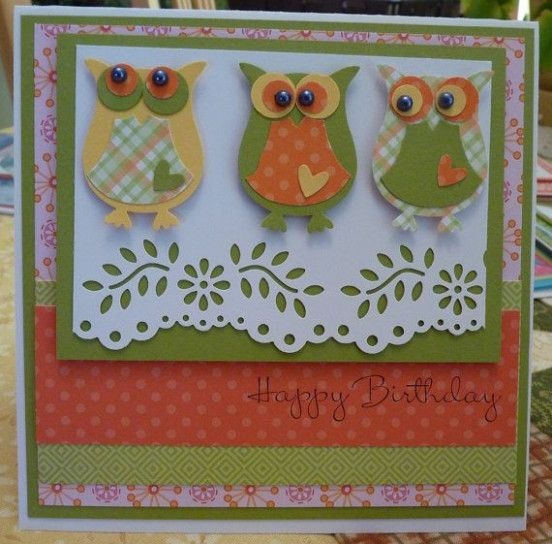 diy owl birthday card  handmade greeting card designs