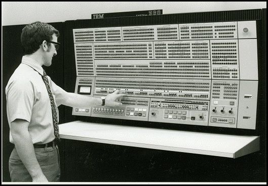 Main Console of the IBM 360/75 (1967).