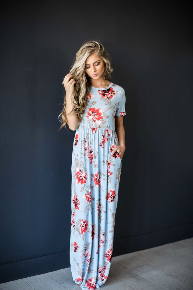 Use code 'LEX5' for a discount! www.shopjessakae.com maxi dress, floral dress, blonde hair, mothers day, sunday dress, style, fashion, spring, spring dress