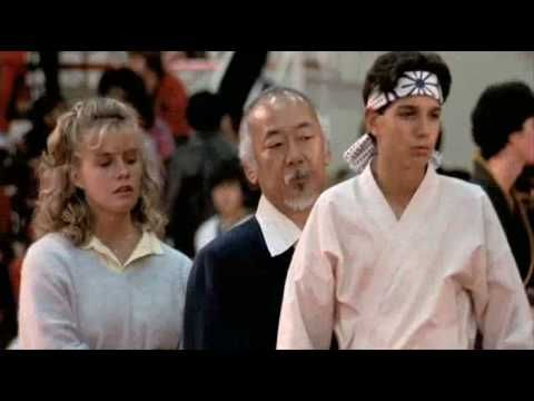 "Karate Kid: The ""Montage"" scene featuring the song 'You're the Best' - It's Daniel versus the Cobra Kai (and other karate dojos) in the All Valley Karate Tournament."