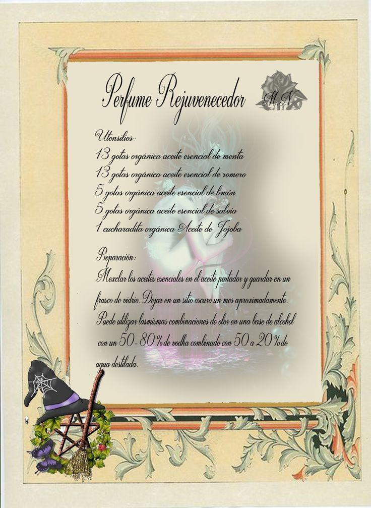 Trastos de Bruja: Perfume Rejuvenecedor