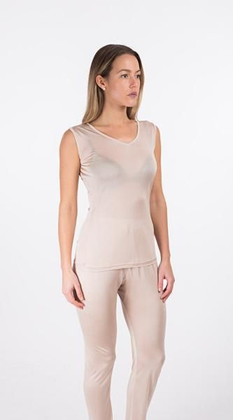 Kim Allan Silk - 100% Knit Silk Undergarments. Silk Vest. Fits your body like a second skin, with smooth, comfortable curves. #undergarments #silk #comfort #silkysmooth