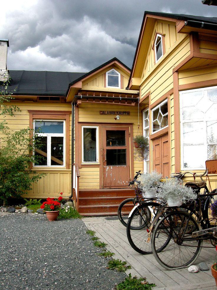 Old shop Jalava Kauppa in the center of Taivalkoski, Lapland, Finland www.jalavankauppa.net