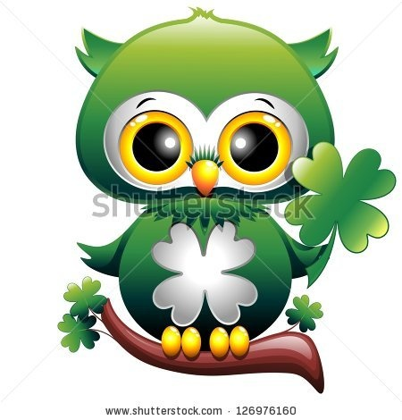 #Baby #Owl St #Patrick #Cartoon    http://www.shutterstock.com/pic.mhtml?id=126976160