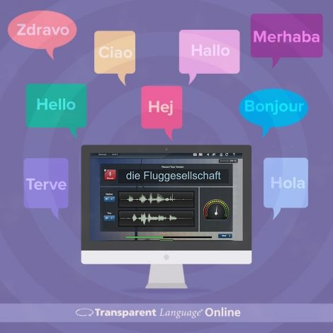 Get a 6-month subscription to Transparent Language, an online language program for all ages with 50 different language choices!