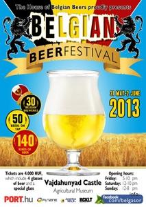 Belgian Beer Festival in City Park, Vajdahunyad Castle, Budapest, 31 May-02 June, 2013.