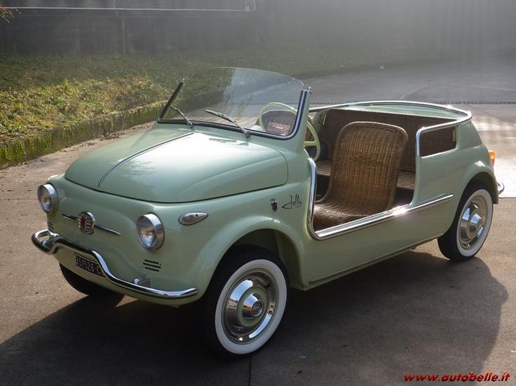 Fiat 500 Jolly Ghia. Imagine the fun you could have riding around in this little cutie.