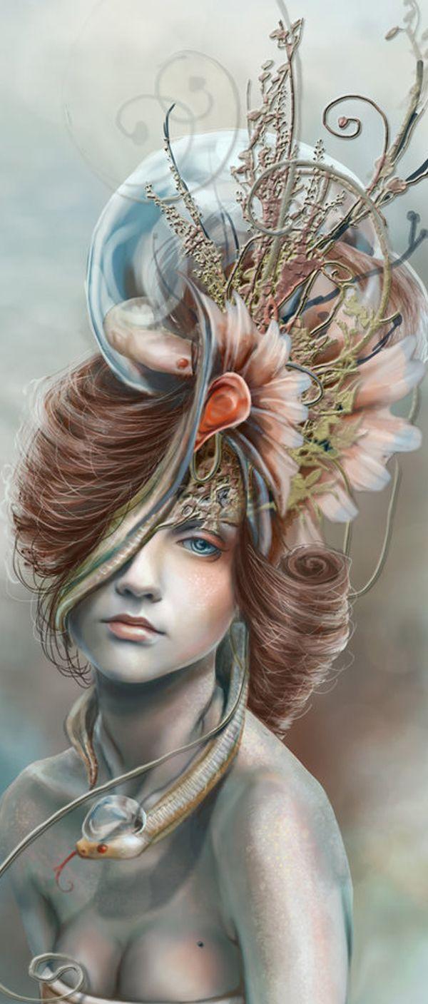 monster inside my head by myambeon-d34jgzt - Digital Art by Jenny Lee  <3 !