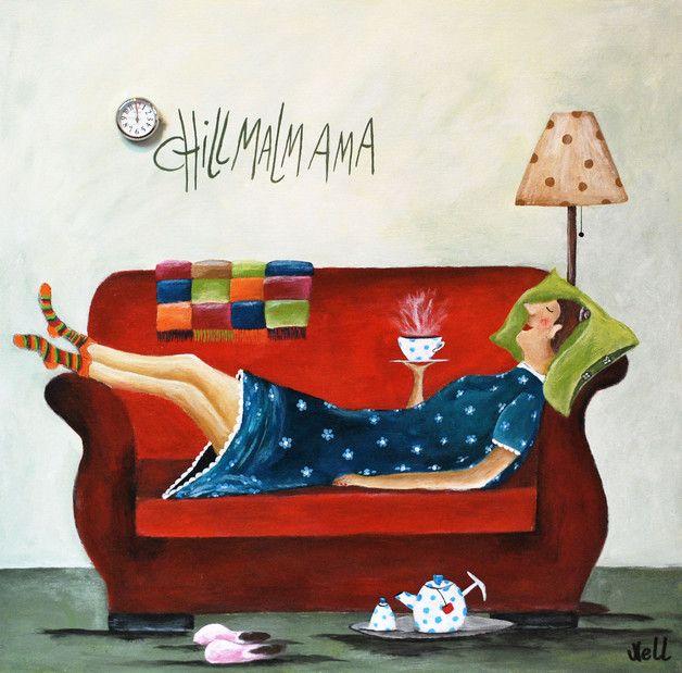 postkarte eigenes gemaltes motiv als x 14cm sch nes witzig zitate und spr che. Black Bedroom Furniture Sets. Home Design Ideas