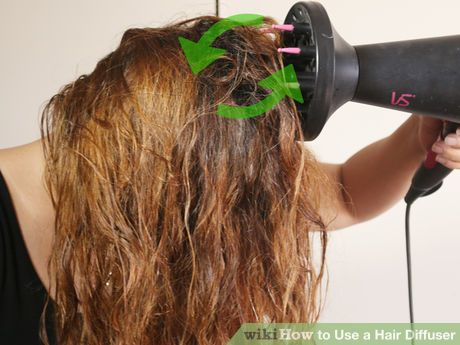 Curly wavy hair. How to Use a Hair Diffuser *Method Two