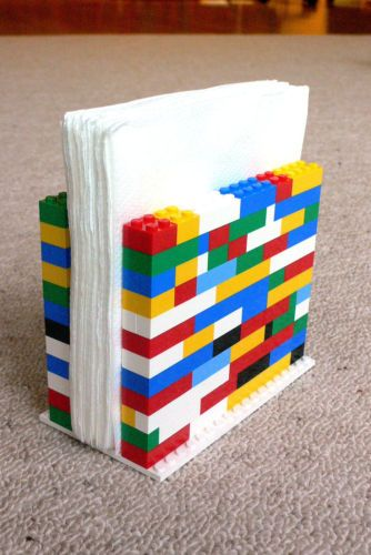 Why not use Legos to make an easy and stylish napkin holder