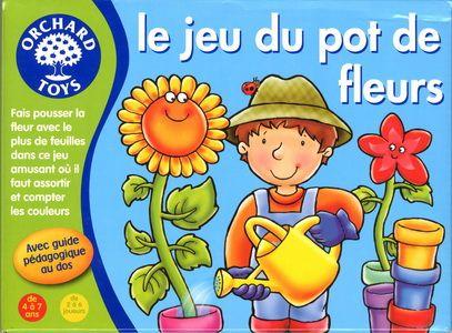 LE JEU DU POT DE FLEURS : Choisis un pot et fais pousser ta plante le plus haut possible. Fais attention aux fleurs sinon ta plante pourrait fleurir trop vite ! Pour développer les compétences relatives aux couleurs et à la numérotation. 2 à 6 joueurs. De 4 à 7 ans.