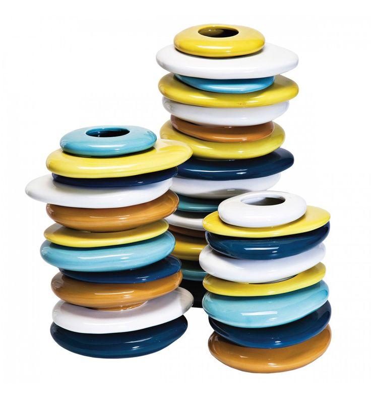 Vaso Pebbles Colore 36 cm Kare Design