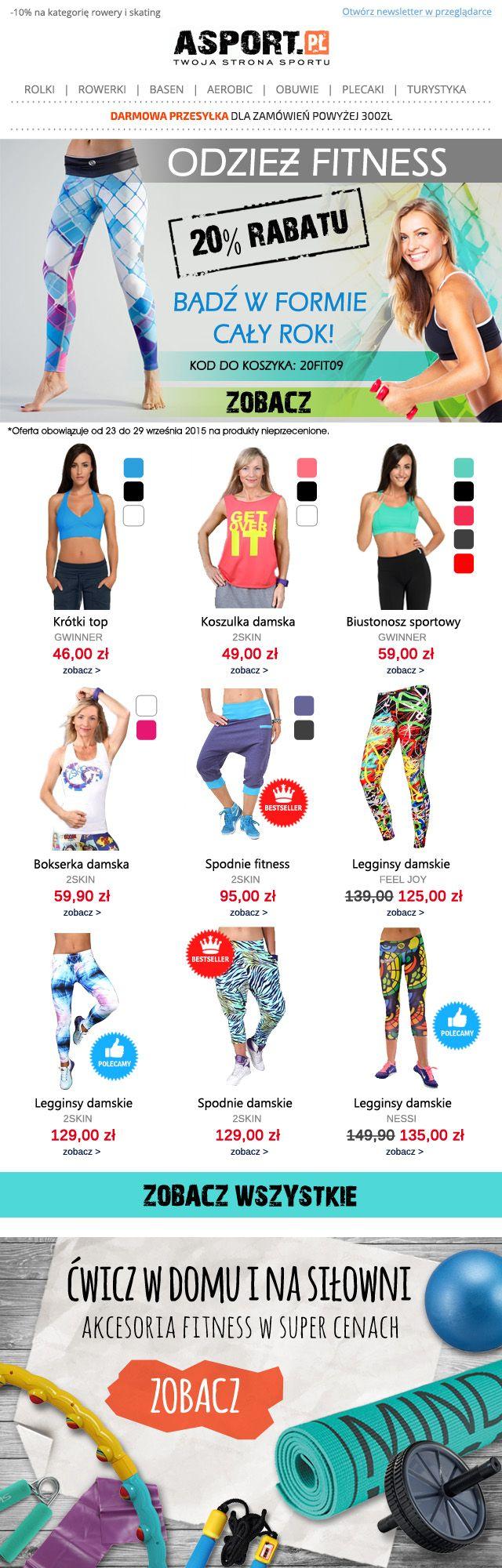 Ćwicz na zdrowie/Exercise for Health #fitness #newsletter #Sportswear